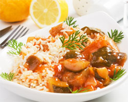 Ratatouille con Arroz